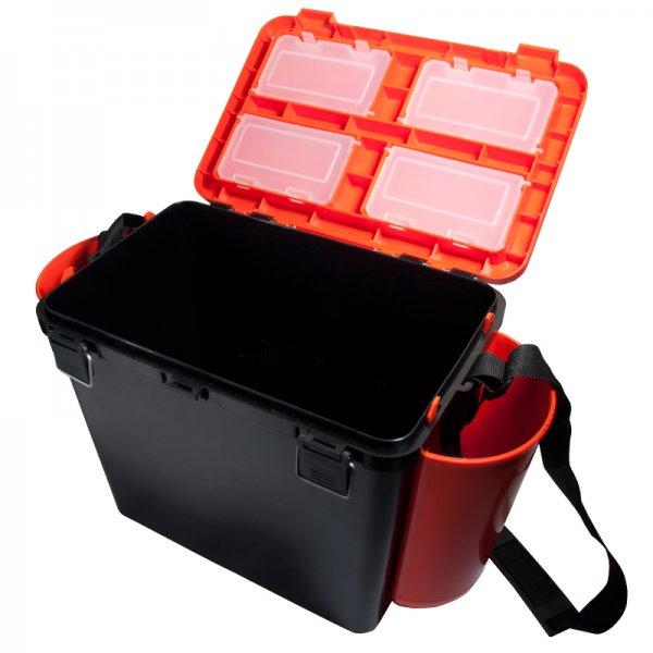 helios Ящик для зимней рыбалки Helios FishBox односекционный (19л), оранжевый
