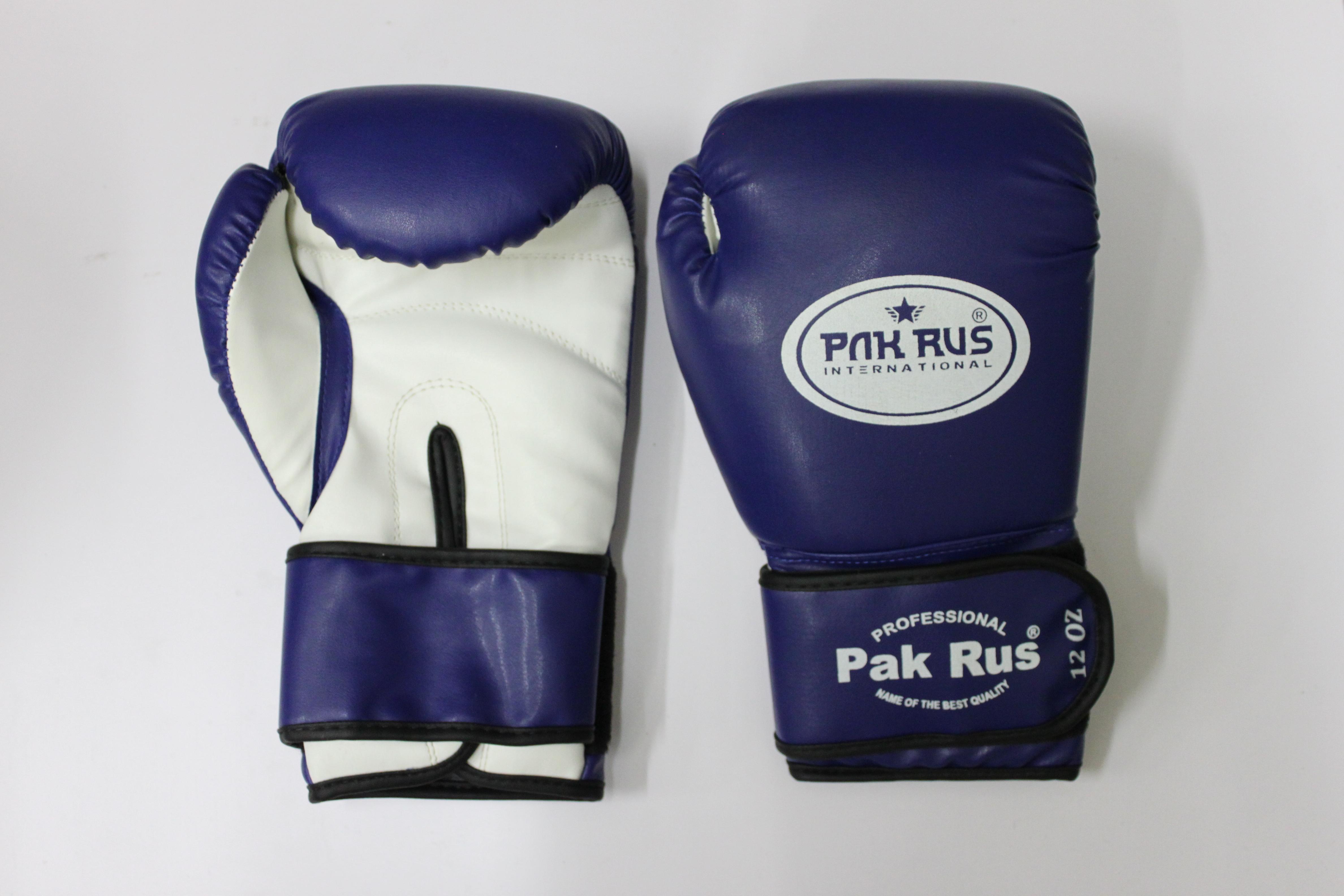 pak rus Перчатки боксерские Pak Rus , иск.кожа , 12 OZ , синие, PR-128881
