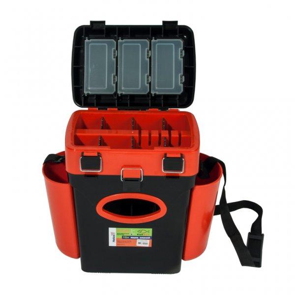 helios Ящик для зимней рыбалки Helios FishBox двухсекционный (10л), оранжевый