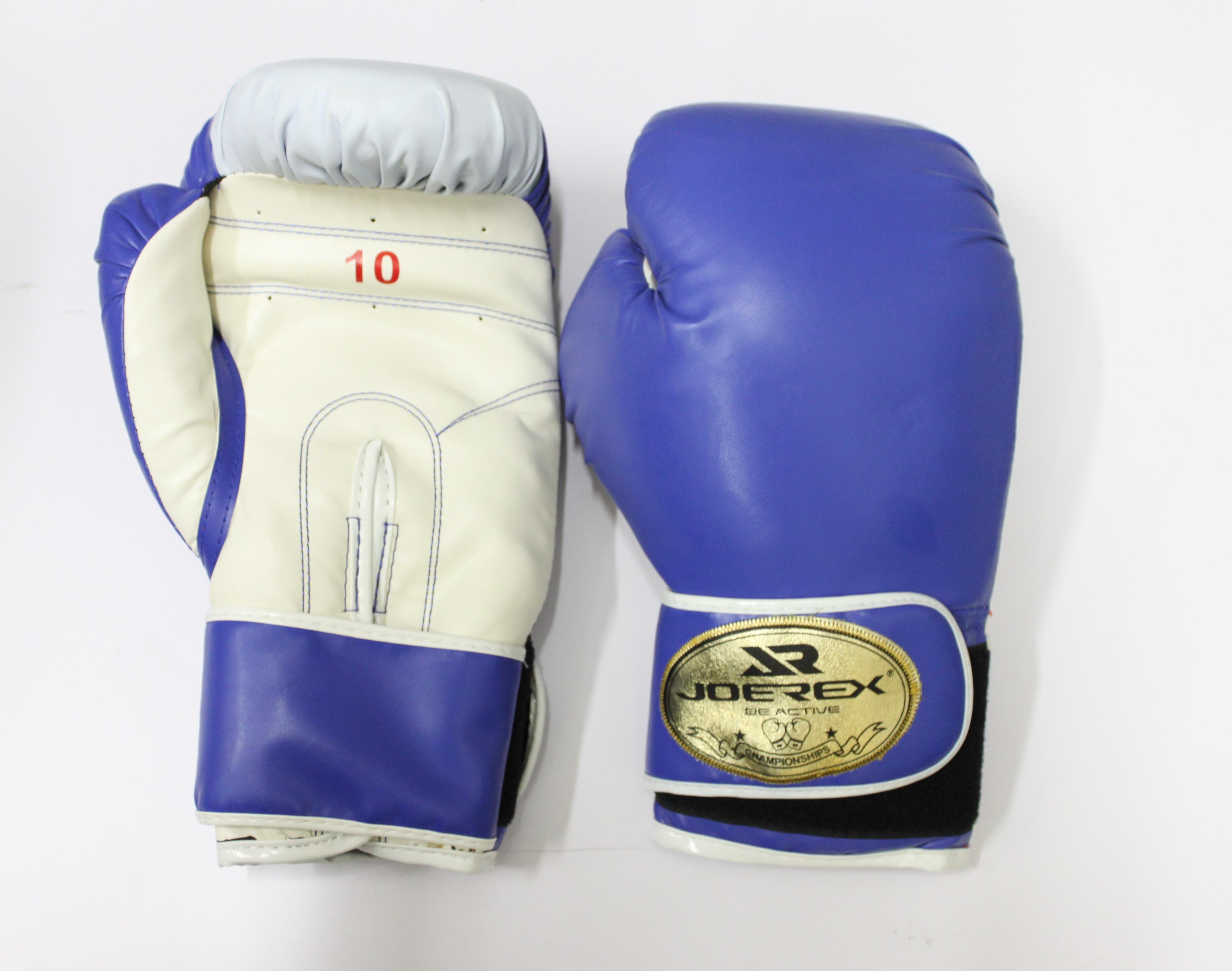 joerex Перчатки боксерские JOEREX PU, 10 OZ , синие, JBX110