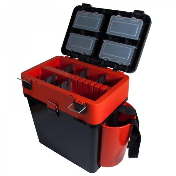 helios Ящик для зимней рыбалки Helios FishBox двухсекционный (19л), оранжевый
