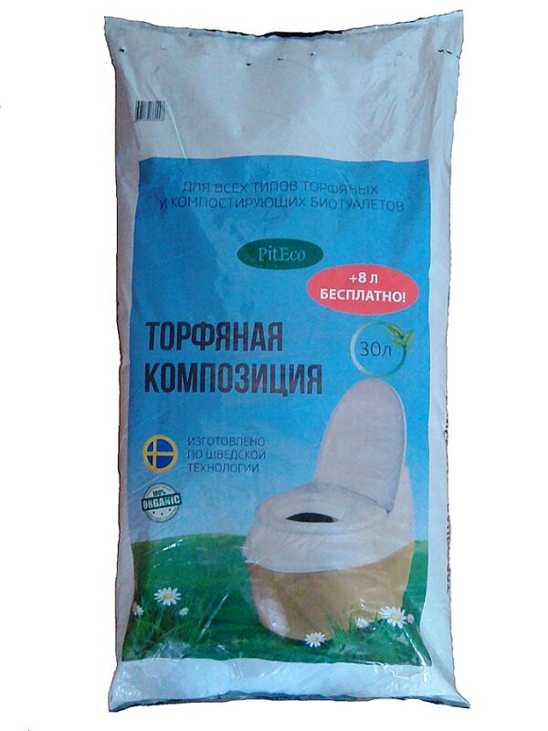 piteco Смесь для компостирующих биотуалетов (торфяная композиция) 30+8л.