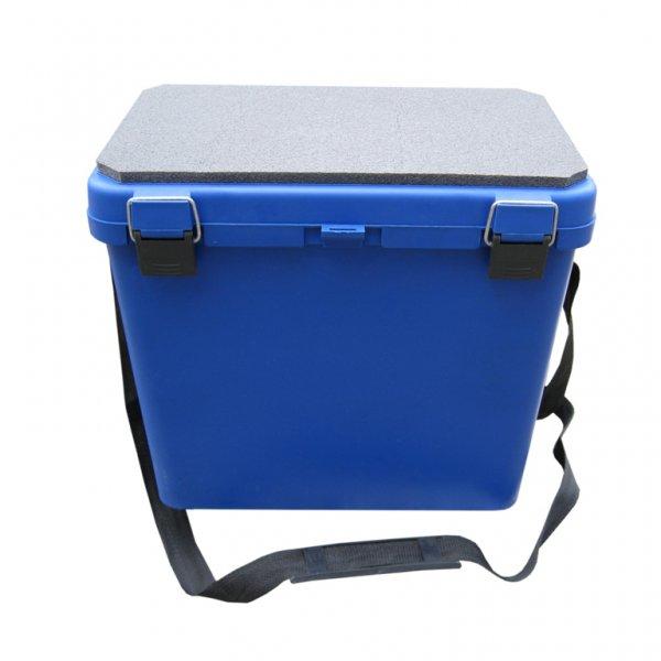 тонар Ящик для зимней рыбалки Helios Ящик-М односекционный, синий
