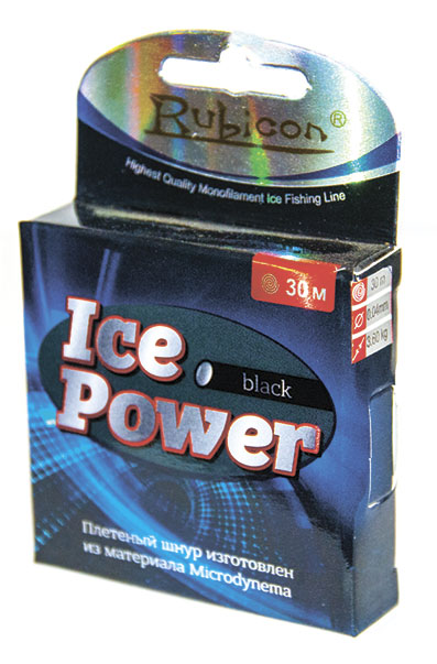 rubicon Ice Power 30m black, d=0,18mm