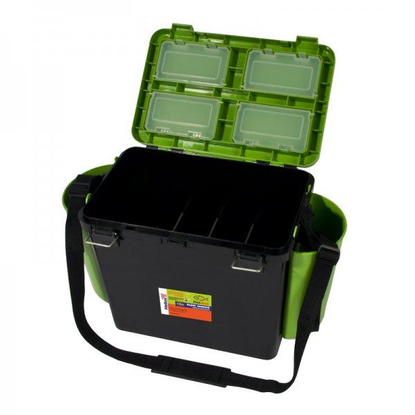 helios Ящик для зимней рыбалки Helios FishBox односекционный (19л), зеленый