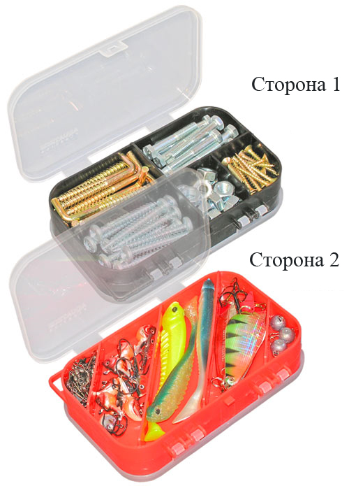 aquatech plastics Коробка AQUATECH 2-сторонняя, 10 ячеек