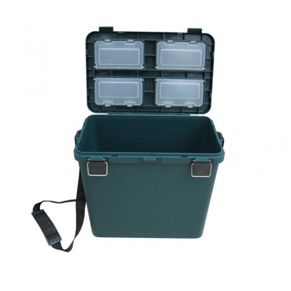 тонар Ящик для зимней рыбалки Helios Ящик-М односекционный, зеленый