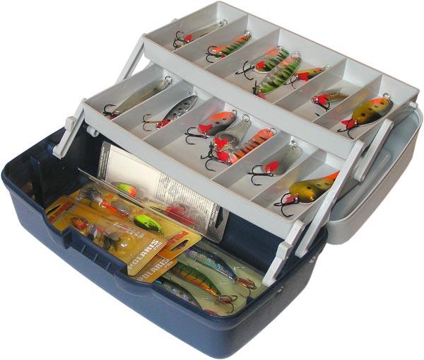 aquatech plastics Ящик AQUATECH 1702Т 2-полочный (прозрачная крышка)