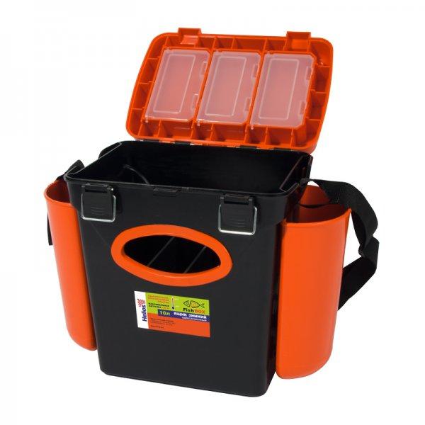 helios Ящик для зимней рыбалки Helios FishBox односекционный (10л), оранжевый