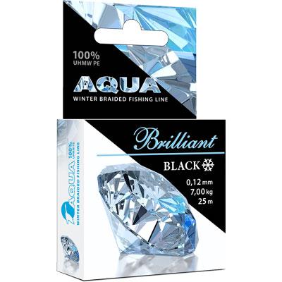 aqua Зимний плетеный шнур Aqua Black Brilliant 25m