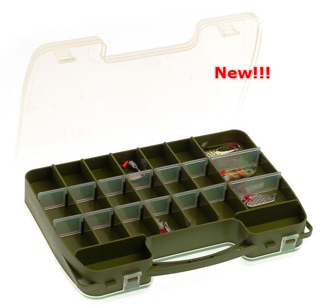aquatech plastics Коробка AQUATECH 2-сторонняя, 14-46 ячеек (для воблера и т.п.)