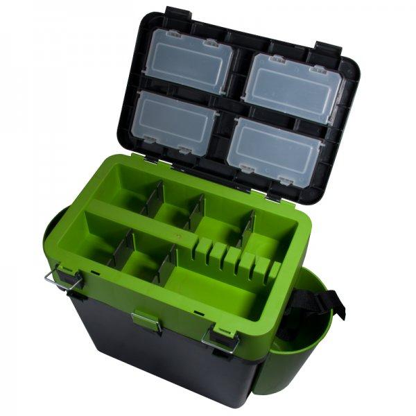 helios Ящик для зимней рыбалки Helios FishBox двухсекционный (19л), зеленый